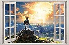 Adesivi Murali 3d decalcomania finestra adesivo da