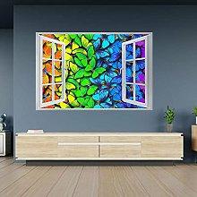Adesivi murali 3D Farfalle color arcobaleno