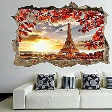 Adesivi murali 3D Foglie d'autunno Parigi