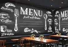Adesivi murali 3d Lavagna Ristorante Bar Cafe