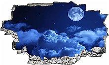 Adesivi murali - 3D - Moon Night Sky Look