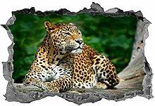 Adesivi murali 3D NYJNN Leopardo, adesivo,