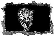 Adesivi murali 3D NYJNN Leopardo, arte della