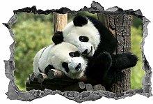 Adesivi murali 3D NYJNN Panda, adesivo, animali,