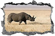 Adesivi murali 3D NYJNN Rinoceronte, arte della