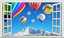 Adesivi murali 3D Palloncini mongolfiera 3D Magic