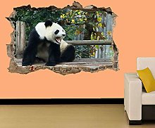 Adesivi murali - 3D- PANDA ARRABBIATO SUL PONTE DI