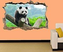 Adesivi murali - 3D- PANDA ARRAMPICATA
