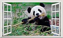Adesivi murali - 3D- Panda Magic Window Wall Art