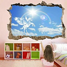 Adesivi murali 3D Pegasus Fairy Clouds Adesivo