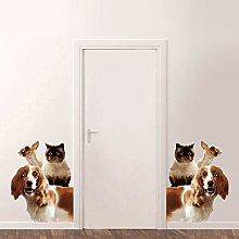 Adesivi Murali 3D Per Cani E Gatti Divertenti