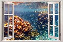 Adesivi murali 3D Pesci d'acqua 3D Carta da