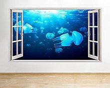 Adesivi murali 3D Pesci Mare Oceano Blu Adesivo