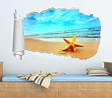 Adesivi murali - 3D - Poster Vinile - Exotic Beach