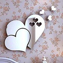 Adesivi murali 3D specchio amore cuori Adesivo