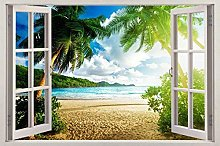 Adesivi Murali 3D Window View Decal ADESIVO DA