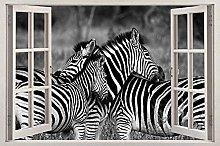 Adesivi murali 3D Zebra 3D Decalcomanie da
