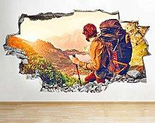 Adesivi murali Adesivi murali Escursionismo Uomo