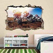 Adesivi Murali adesivo da parete Motocross Moto da
