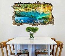 Adesivi Murali Adesivo murale 3D Blue Lake Wall