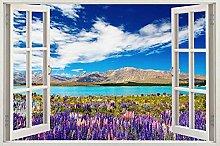 Adesivi murali Adesivo murale 3d spiaggia tramonto