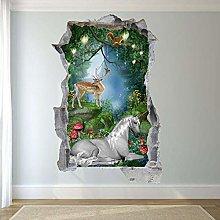 Adesivi Murali Adesivo murale animale foresta