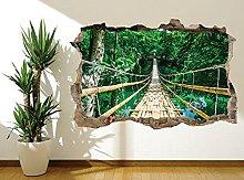 Adesivi Murali Adesivo murale Bamboo Sky Bridge