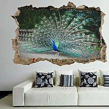 Adesivi murali Adesivo murale con uccello pavone e