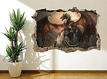 Adesivi Murali Adesivo murale effetto drago fantasy