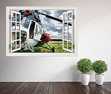 Adesivi Murali Adesivo murale finestra elicottero