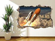 Adesivi Murali Adesivo murale lancio navetta