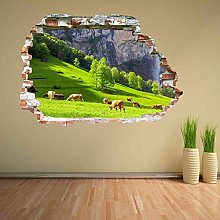 Adesivi murali Adesivo murale paesaggio mucche al