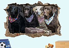Adesivi Murali Adesivo murale per cani Gang Hound