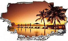 Adesivi murali -Adesivo murale Sea Palm Beach