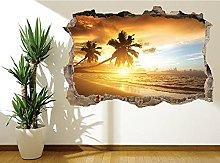 Adesivi Murali Adesivo murale vacanza spiaggia al