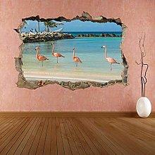 Adesivi Murali Adesivo murale Water Bird with Pink