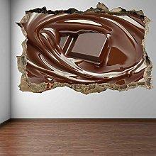 Adesivi murali al cioccolato fuso Adesivo murale