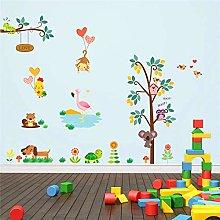 adesivi murali albero tartaruga scimmia gufo