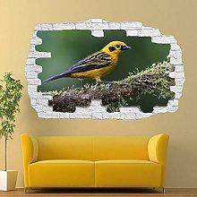 Adesivi Murali Albero uccello uccello dorato