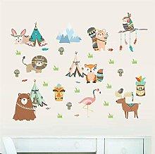 Adesivi murali animali selvatici giungla per