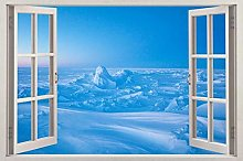 Adesivi Murali Arctic 3d finestra vista