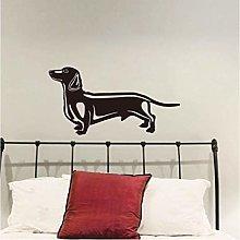 Adesivi murali bassotto cane adesivo murale TV