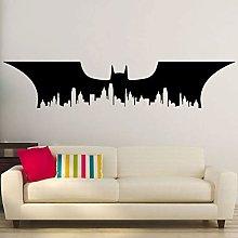 Adesivi murali Batman City Skyline Pipistrelli
