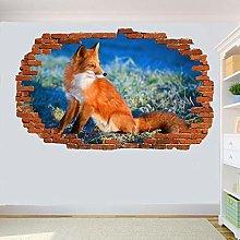 Adesivi Murali bella volpe Adesivo murale 3D