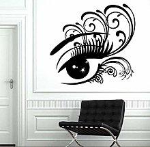 Adesivi Murali Big Eye Adesivo Da Parete Donna