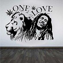 Adesivi Murali Bob Marley Lion Zion & Quot; One