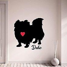 Adesivi murali cane pechinese personalizzazione