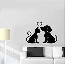 Adesivi Murali Cani E Gatti Amano Decorazione