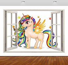 Adesivi murali Castello arcobaleno 3D murale
