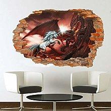 Adesivi Murali cavallo ADESIVO MURALE 3D ART MURAL